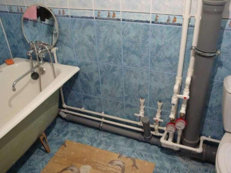 Разводка воды в ванной комнате, виды разводки труб