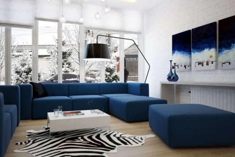 Синяя гостиная — 85 фото идеального сочетания синего дизайна