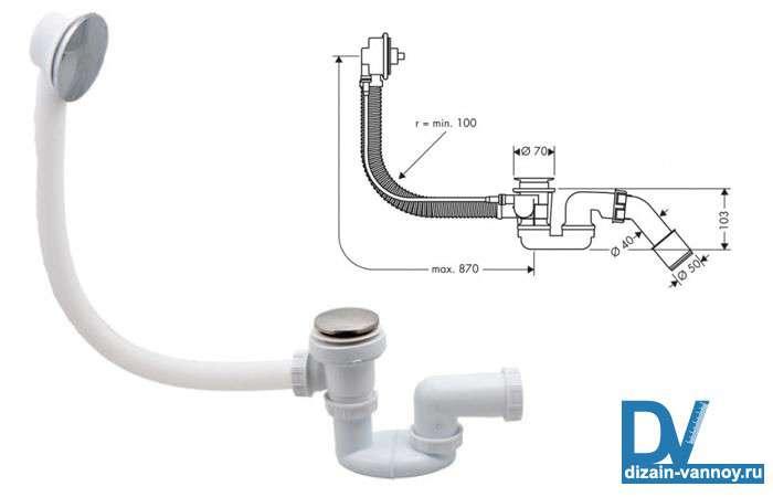 Система слив-перелив для ванны — фото обвязки и как устроен