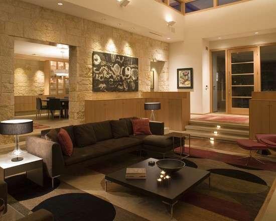 Свет в декоре гостиной — 107 фото примеров