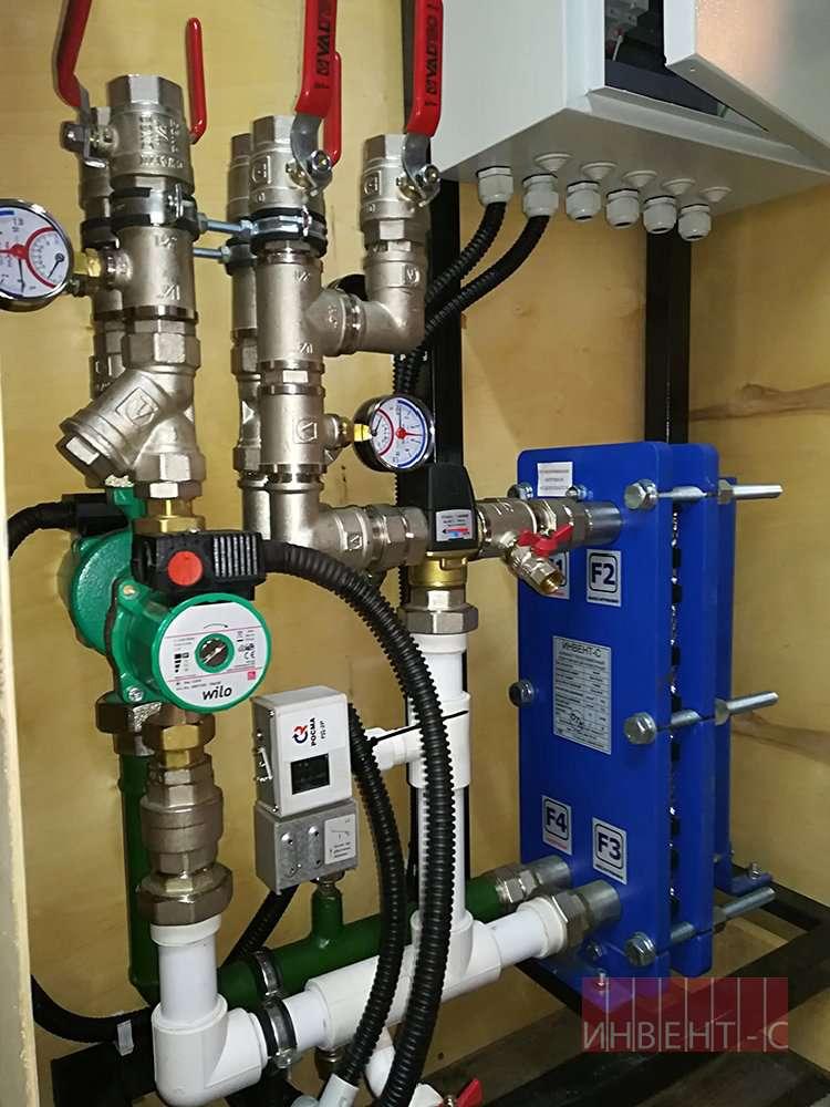 Теплообменник для горячей воды от отопления (пластинчатый и др