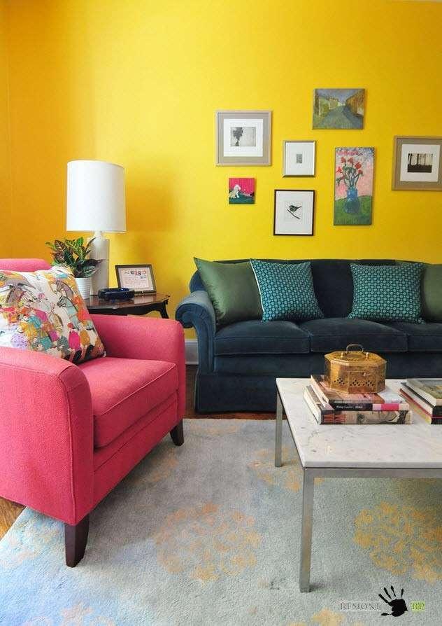 Вечное лето, или гостиная в желтых оттенках