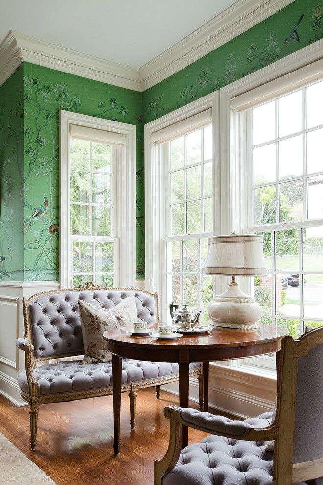 Зеленые обои в интерьере: 50 фото свежих и стильных решений
