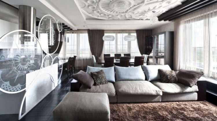 Зонирование гостиной — 115 фото идей дизайна и варианты зонирования гостиной комнаты