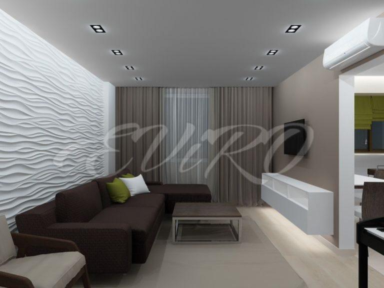 3д панели в интерьере для стен в гостиной