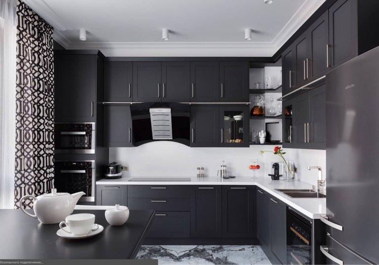 Черно-белая кухня: фото лучших идей по сочетанию. Обзор нестандартных вариантов дизайна черно-белой кухни. Дизайн кухни в черно-белом цвете: варианты оформления, фото примеры, практические советы
